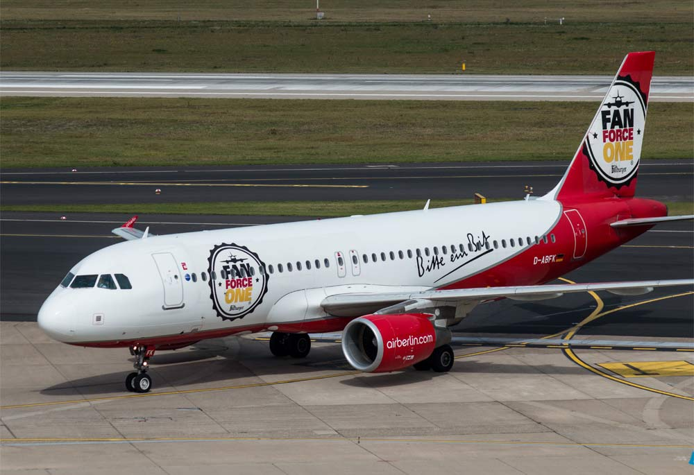 Airbus A320 Air Berlin, Fan Force One