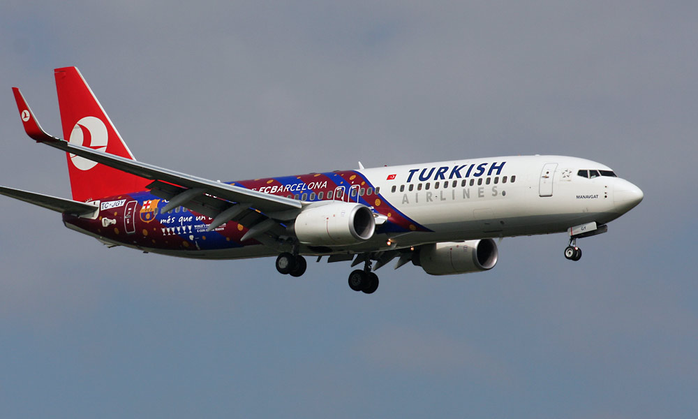 Boeing 737-800 Turkish Airlines / Sponsor of FC Barcelona livery