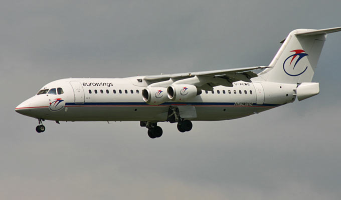 A BAe 146-300A of Eurowings