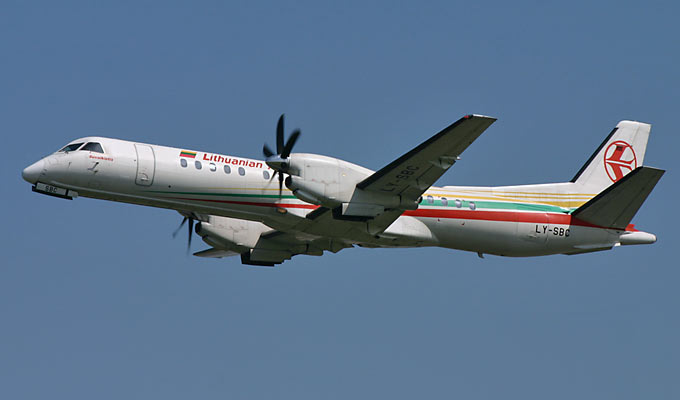 Saab 340 Lithuanian Airlines